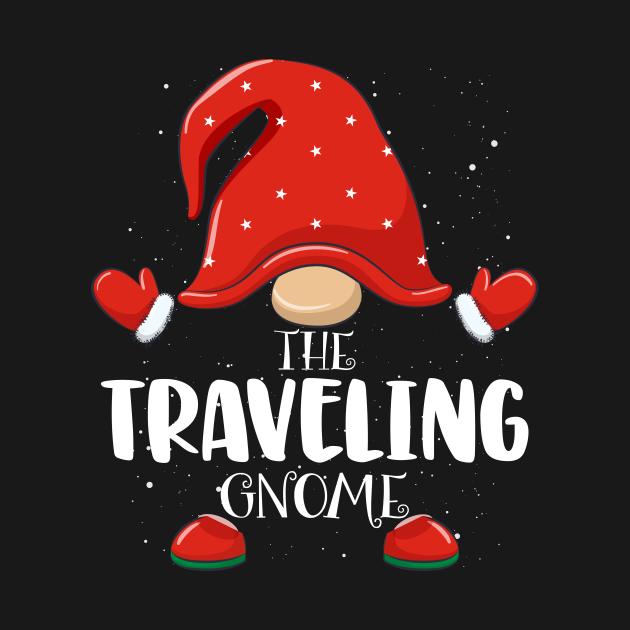 TeePublic: Traveling Gnome Matching Family Group Christmas Pajama