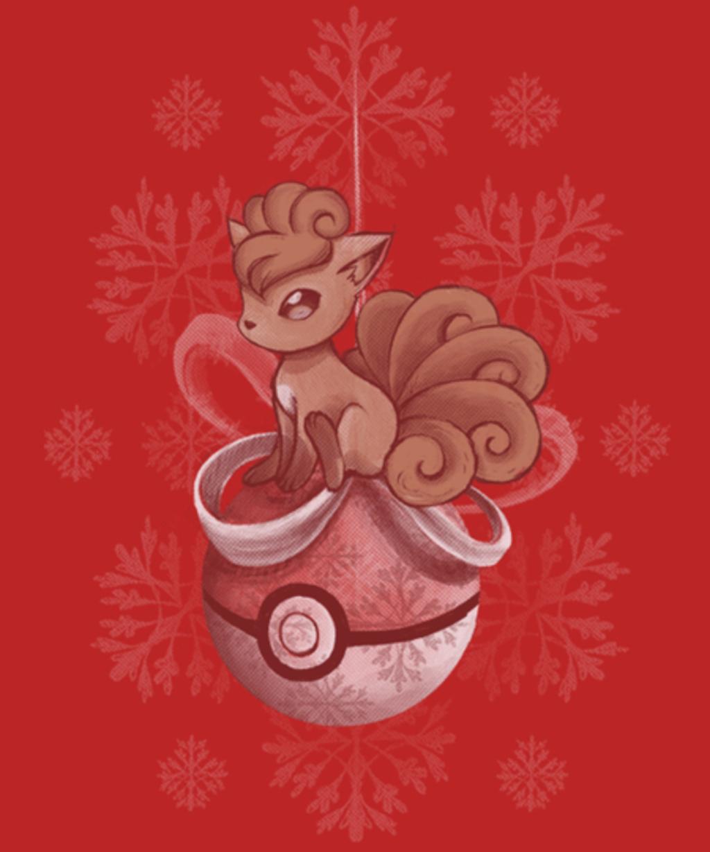 Qwertee: Christmas Vulpix