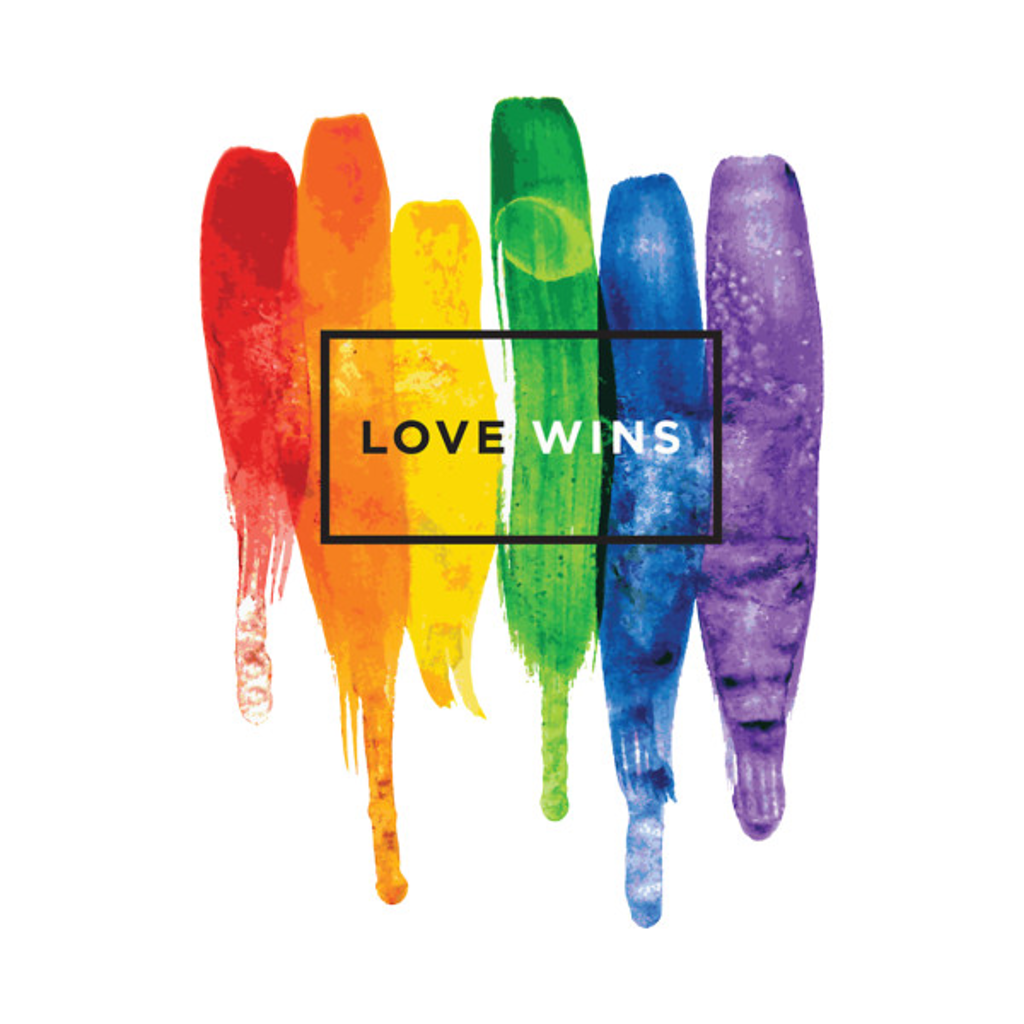 TeePublic: Watercolor Love Wins Rainbow (LGBT)