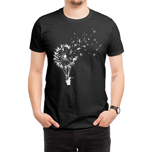 Threadless: Going Where the Wind Blows (Black Variant)