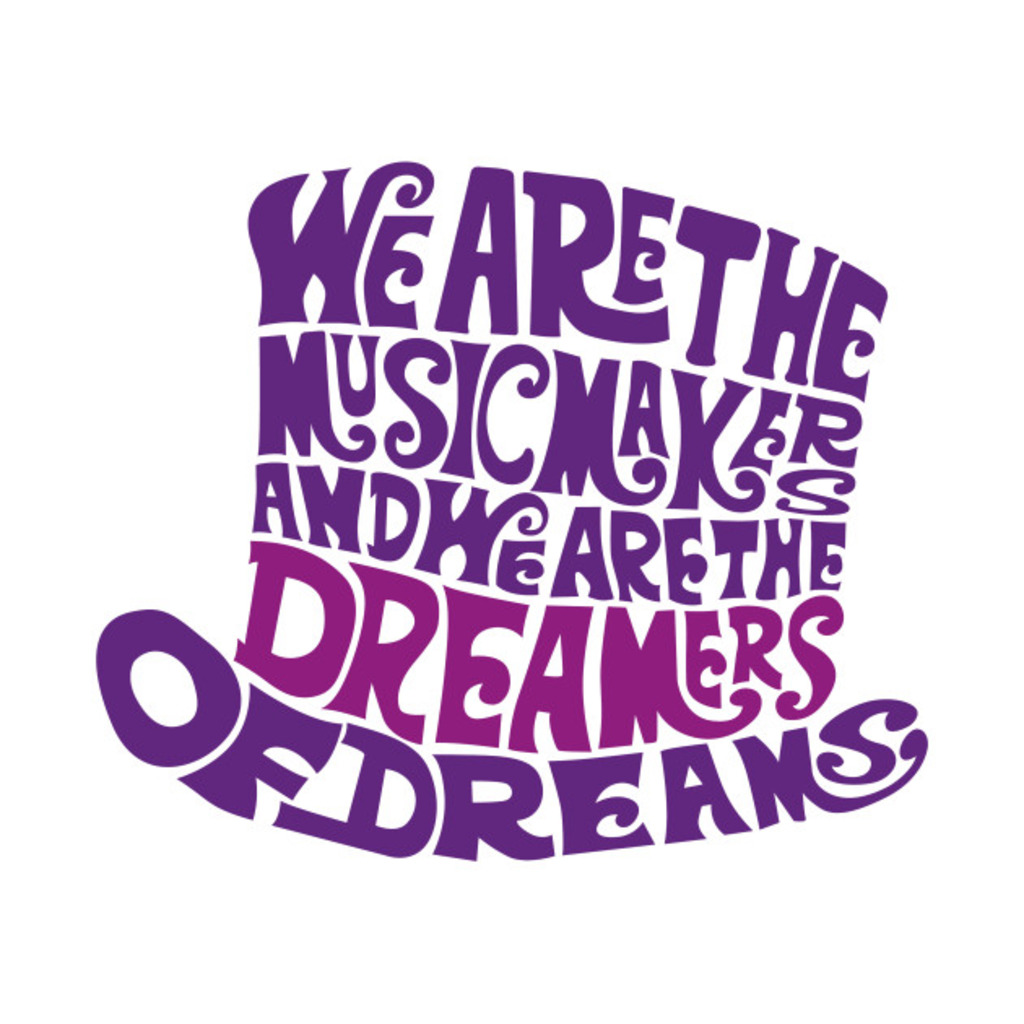 TeePublic: Willy Wonka Hat Dreams - Purple T-Shirt