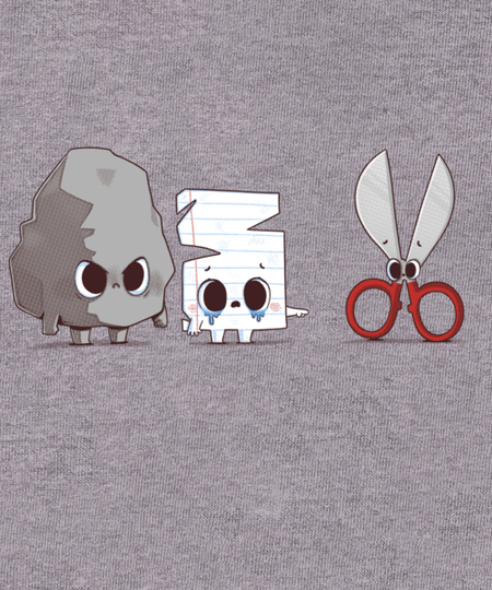 Qwertee: Rock Paper Bully