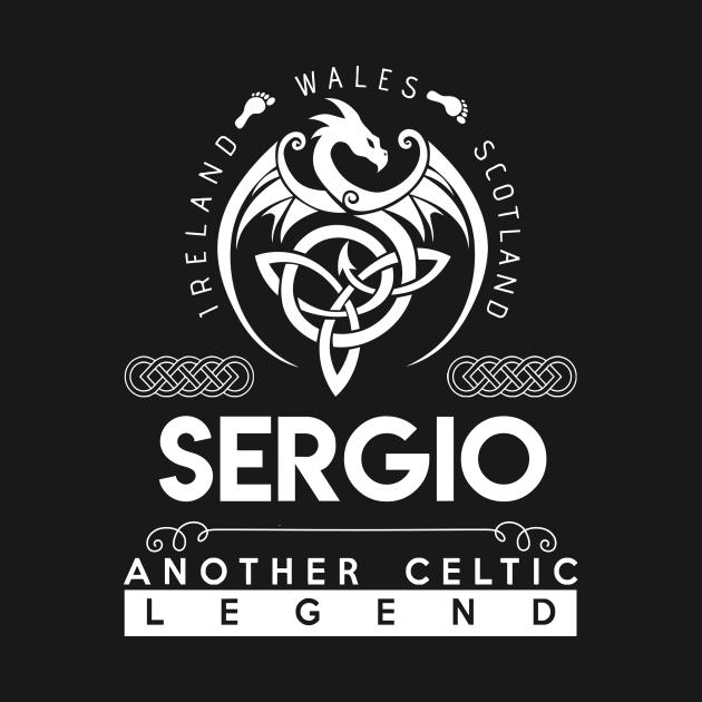 TeePublic: Sergio Name T Shirt - Another Celtic Legend Sergio Dragon Gift Item