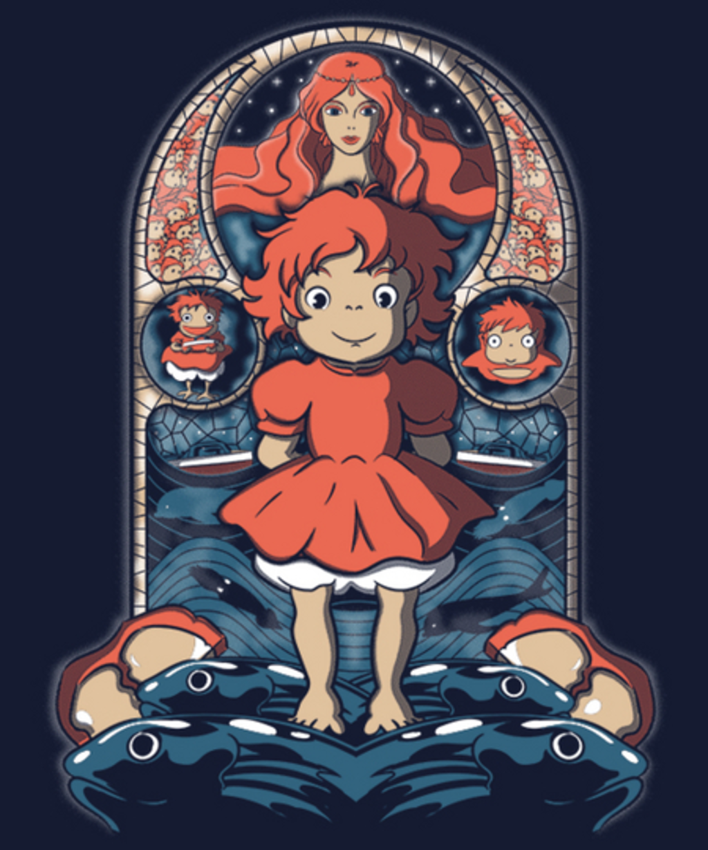 Qwertee: Ponyo in the window