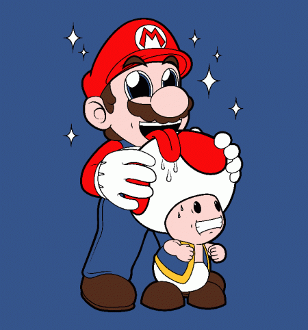 BustedTees: Mario Licking Toad