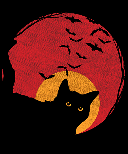 Qwertee: Creepy cat