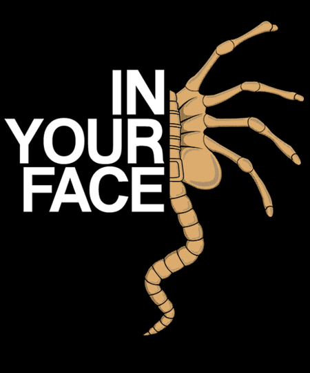 Qwertee: IN YOUR FACE