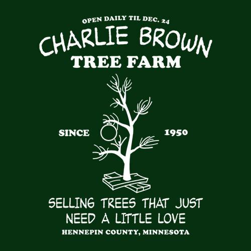 Five Finger Tees: Charlie Brown Tree Farm T-Shirt