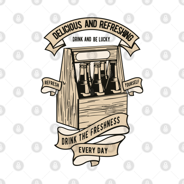 TeePublic: Drink Crate Drinks Soda Beer