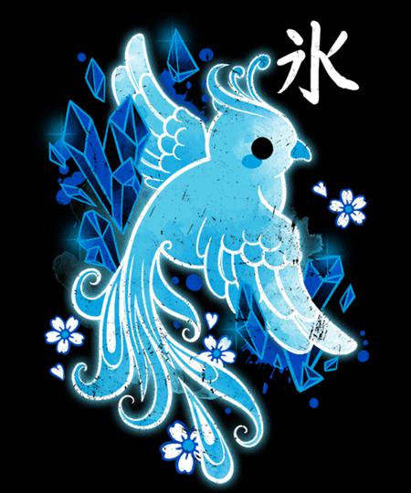 Qwertee: Ice phoenix kawaii