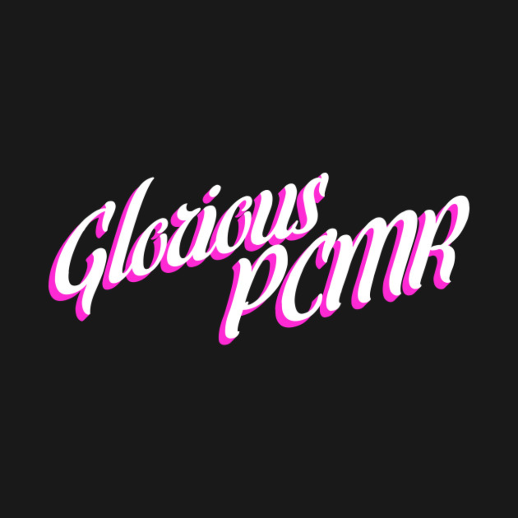 TeePublic: Glorious PC Master Race (PCMR) pink