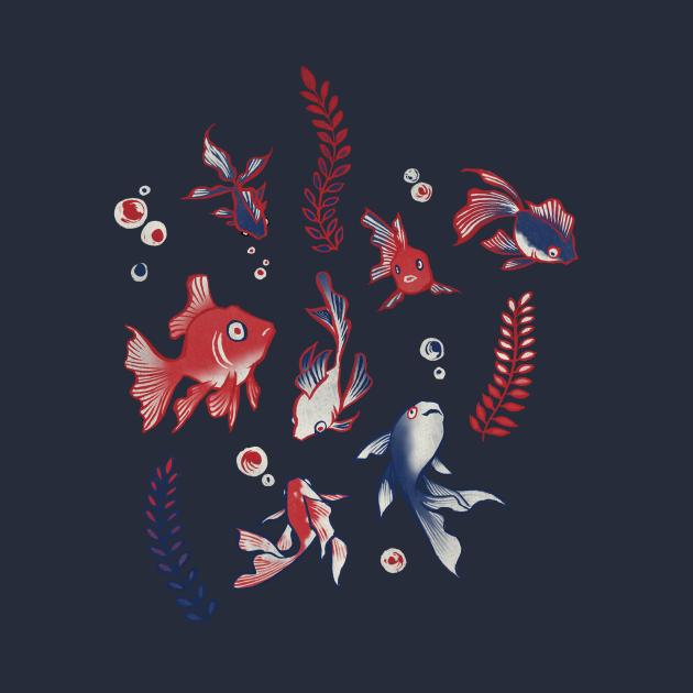 TeePublic: Kingyo/Goldfish (金魚)