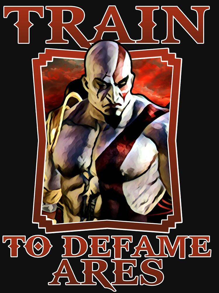 RedBubble: Kratos Train To Defame - Ares