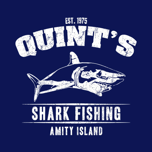 Five Finger Tees: Quint's Shark Fishing T-Shirt