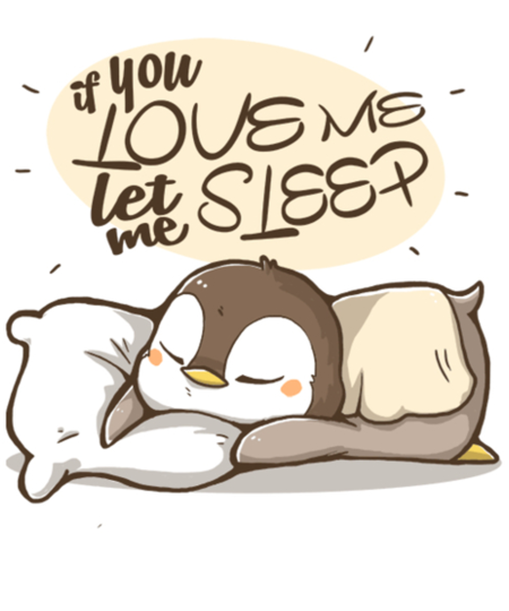 Qwertee: Let me Sleep