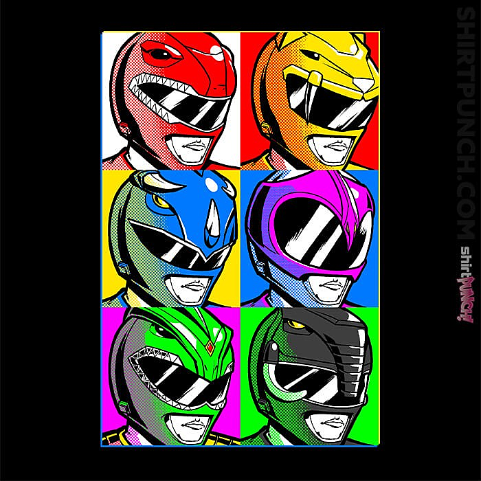 ShirtPunch: Pop Art Power Rangers