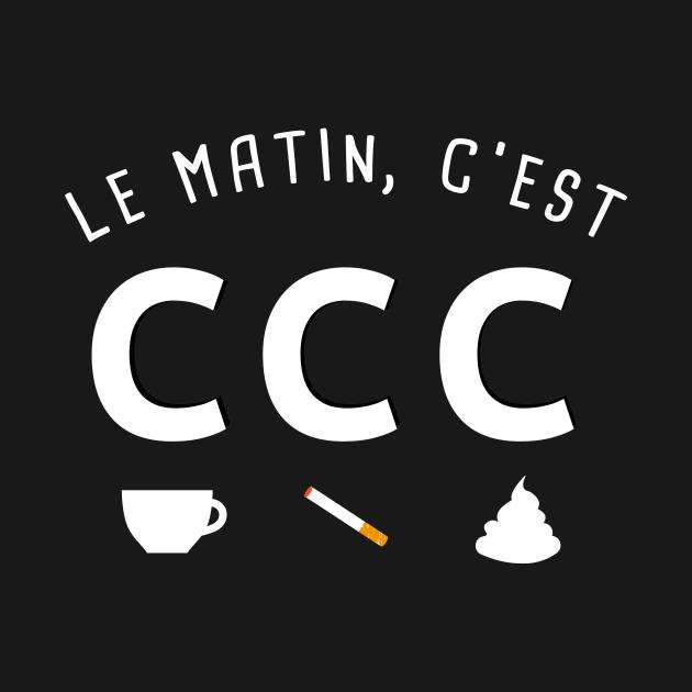 TeePublic: café clope caca
