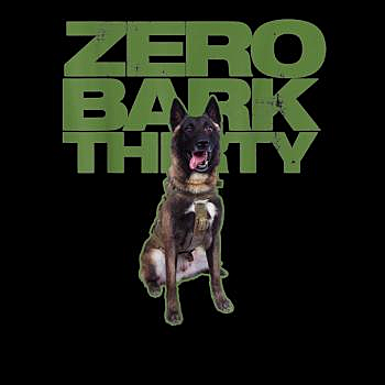 BustedTees: Conan Military hero dog zero bark thirty Dobermann