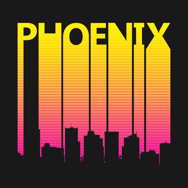 TeePublic: Retro 1980s Phoenix Skyline