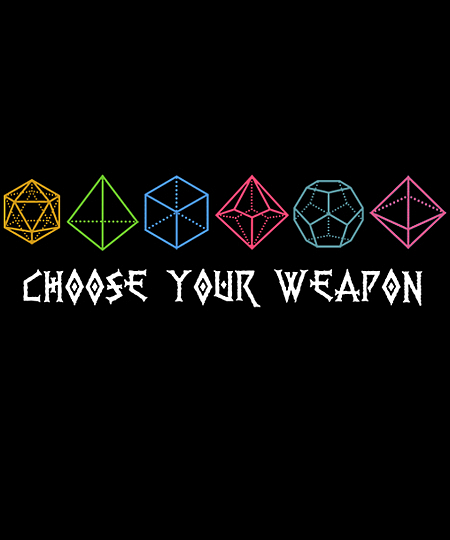 Qwertee: Choose your Weapon