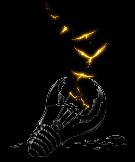 Qwertee: Freedom Light Bird