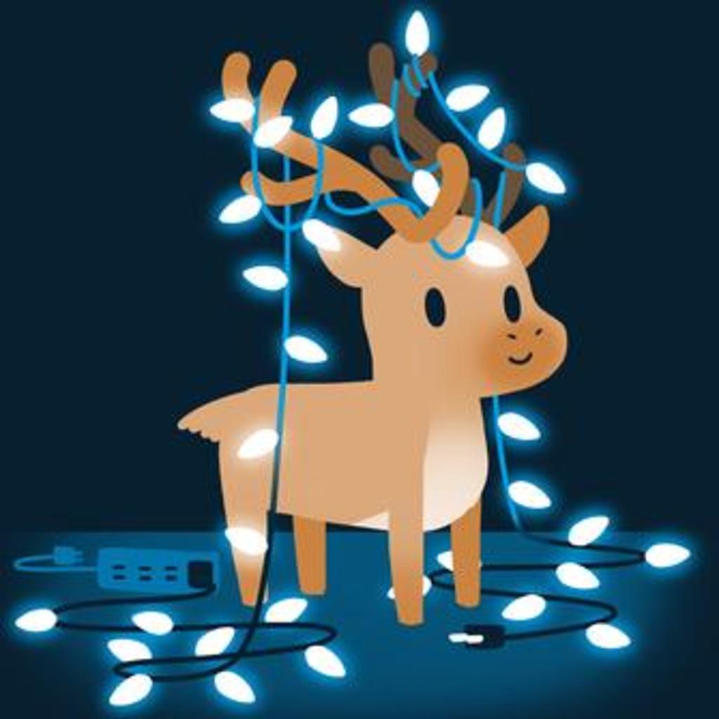 TeeTurtle: Tangled Up Reindeer
