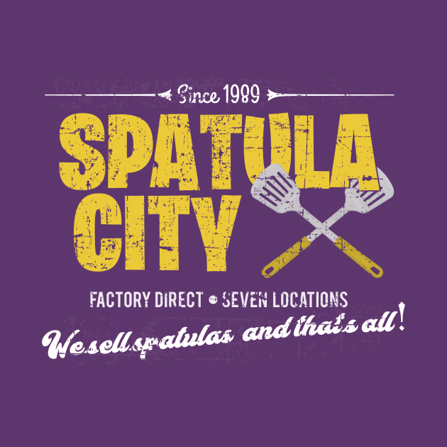 TeePublic: Spatula City, distressed