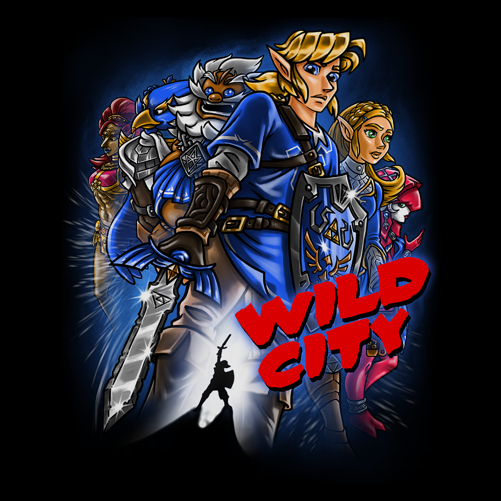 Pop-Up Tee: Zelda Wild City