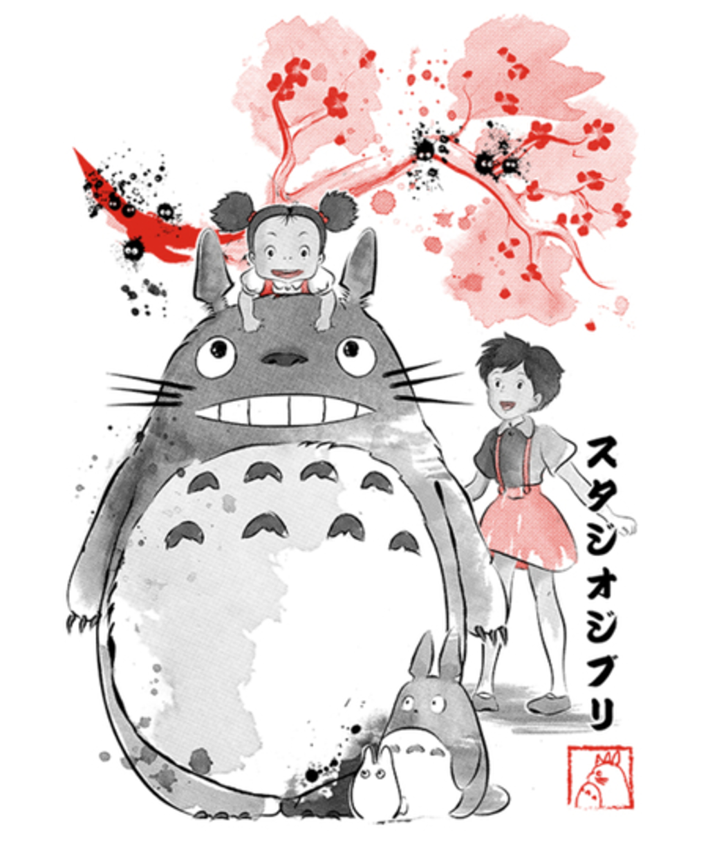Qwertee: My Neighbor Sumi-e