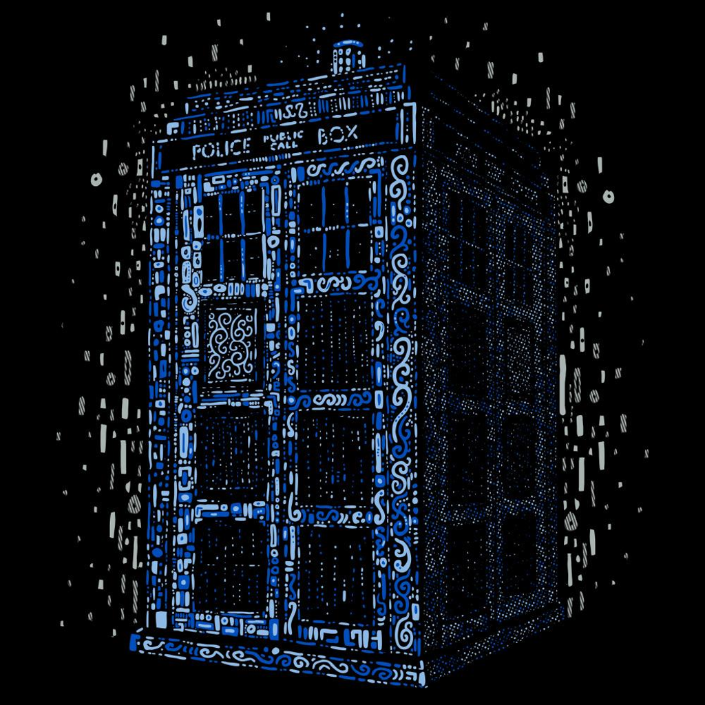 Blue Box Tees: Klimt TARDIS Blue