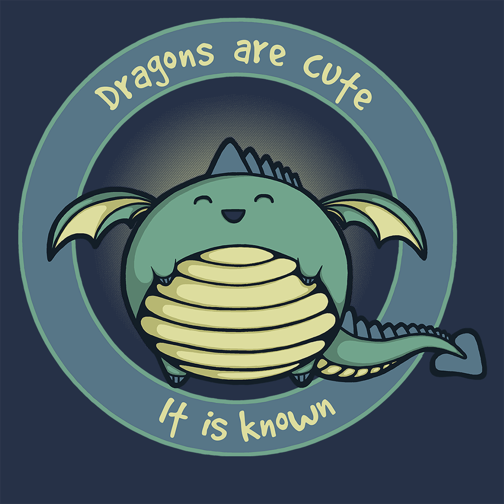 Pop-Up Tee: Dragons are Cute