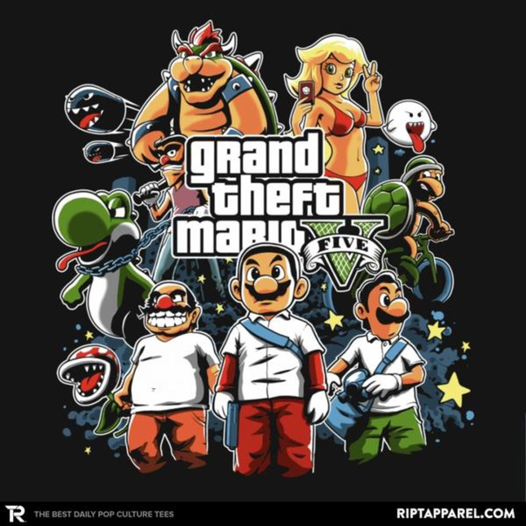 Ript: Grand Theft Mario V Reprint