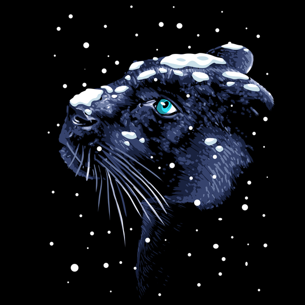 NeatoShop: Snowing Panther