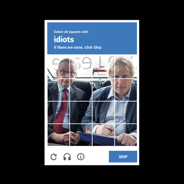 NeatoShop: reCAPTHCHA -- Michael Gove & Boris Johnson