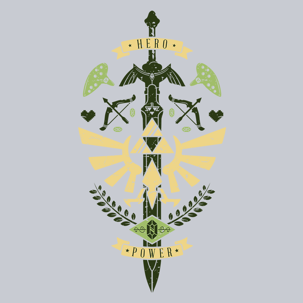 Pop-Up Tee: Zelda Crest