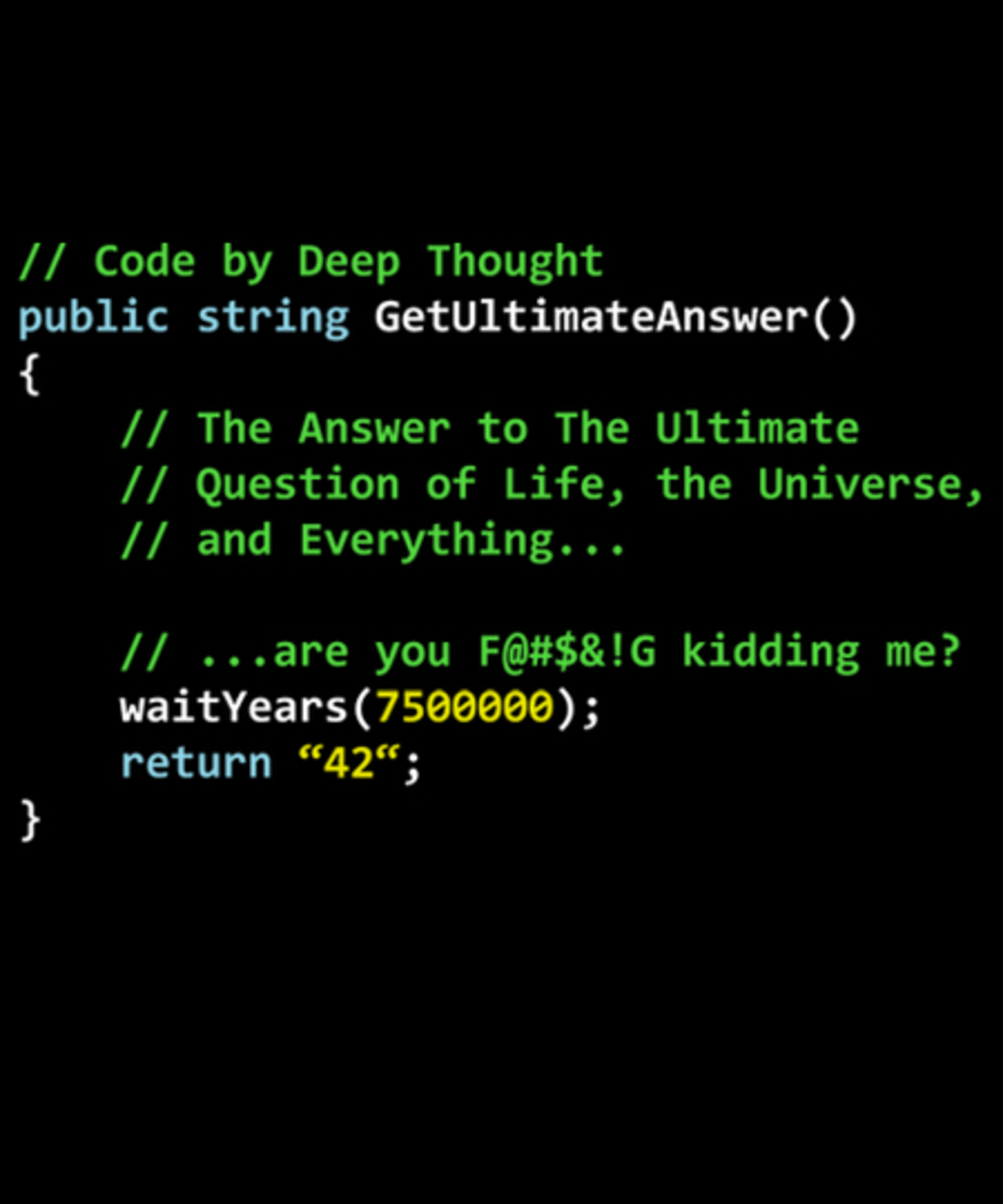 Qwertee: Real Deep Thought Code.