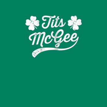 BustedTees: Womens Tits McGee Funny St. Patrick's Day Shamrock