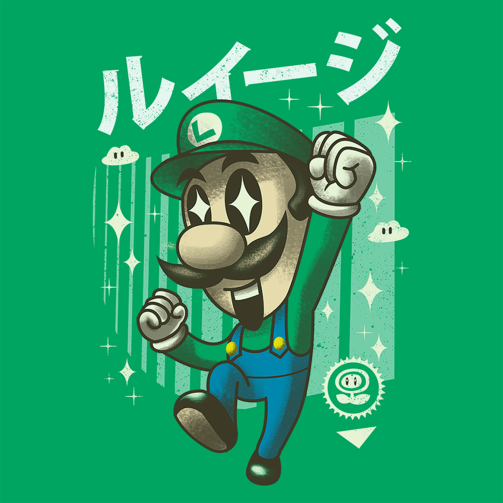 Pop-Up Tee: Kawaii Green Plumber