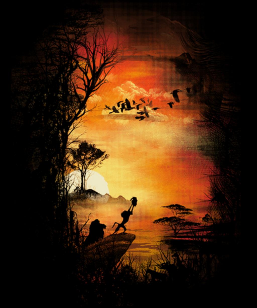 Qwertee: The King Sunrise