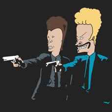 Textual Tees: Butthead Fiction Beavis