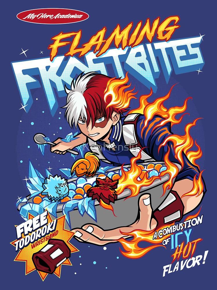 RedBubble: Todoroki Flaming Frostbites ( My hero Academia )