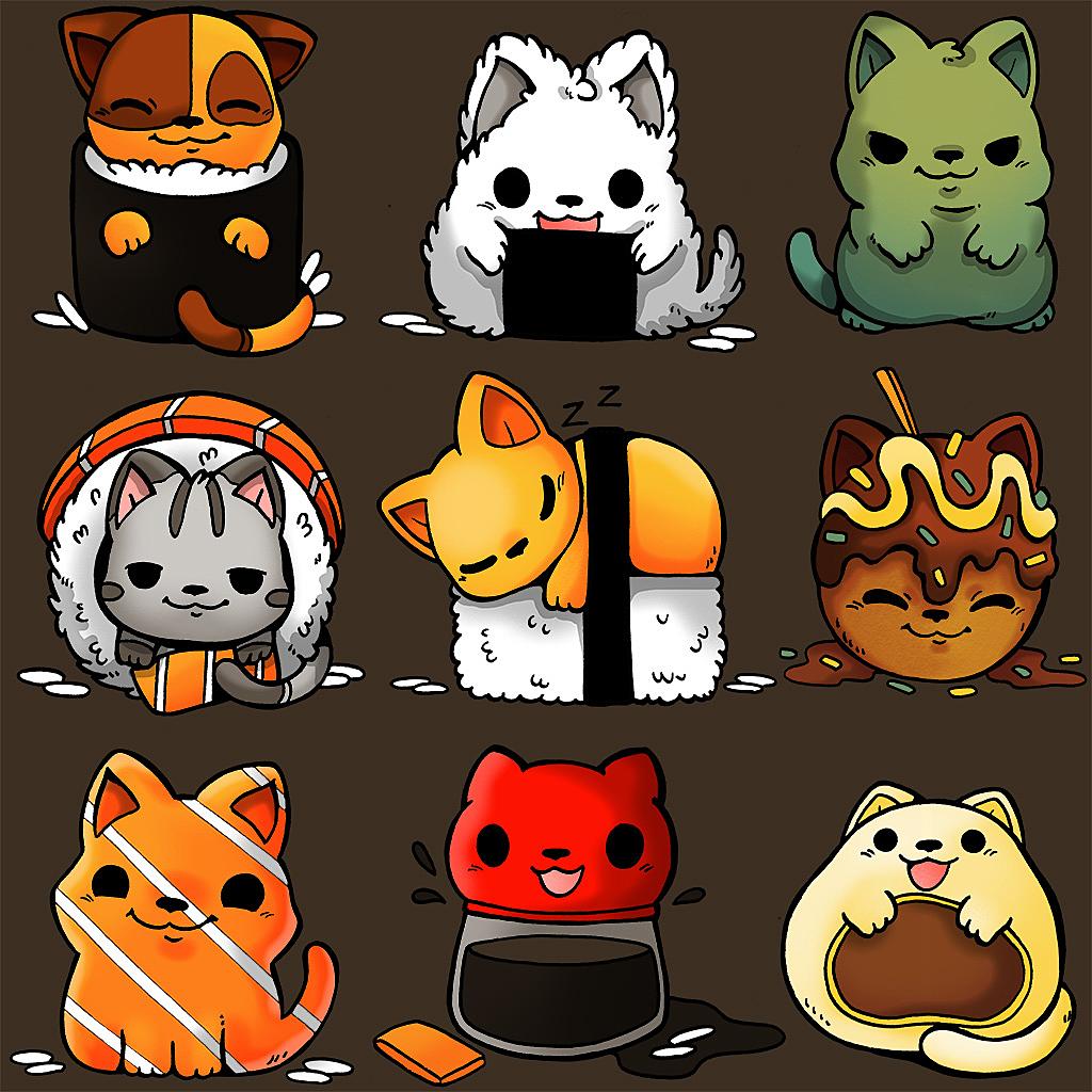 TeeTee: Japan Food Kittens