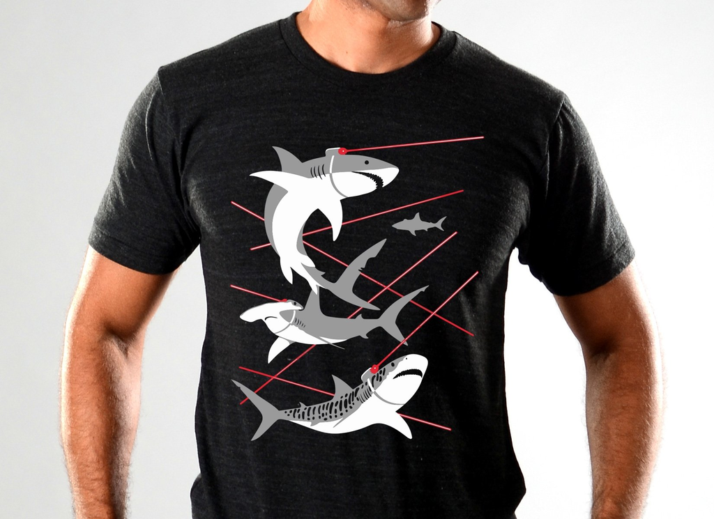 SnorgTees: Sharks With Lasers Limited Edition Tri-Blend