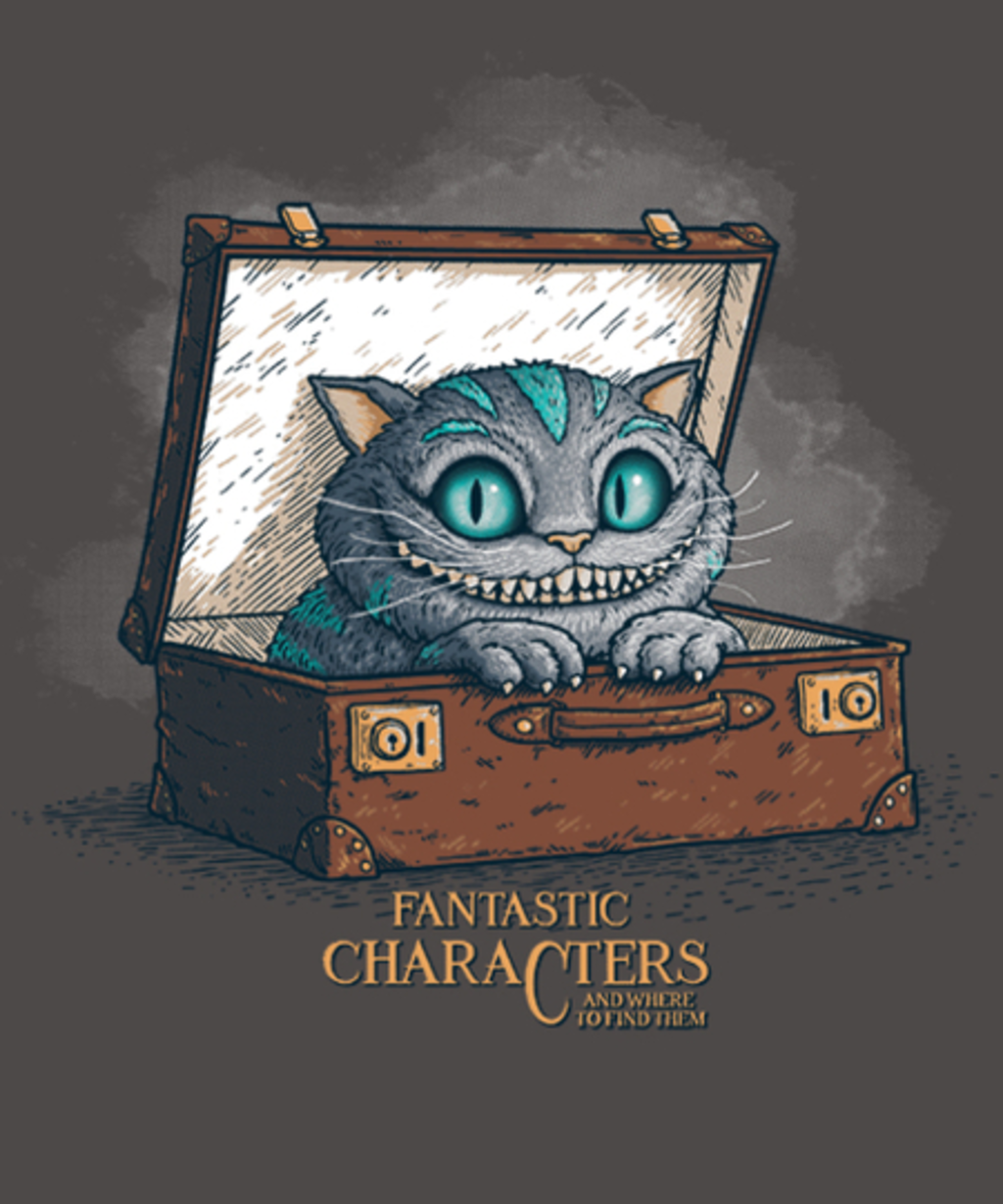 """Qwertee: Fantastic Characters """"Cheshire"""""""