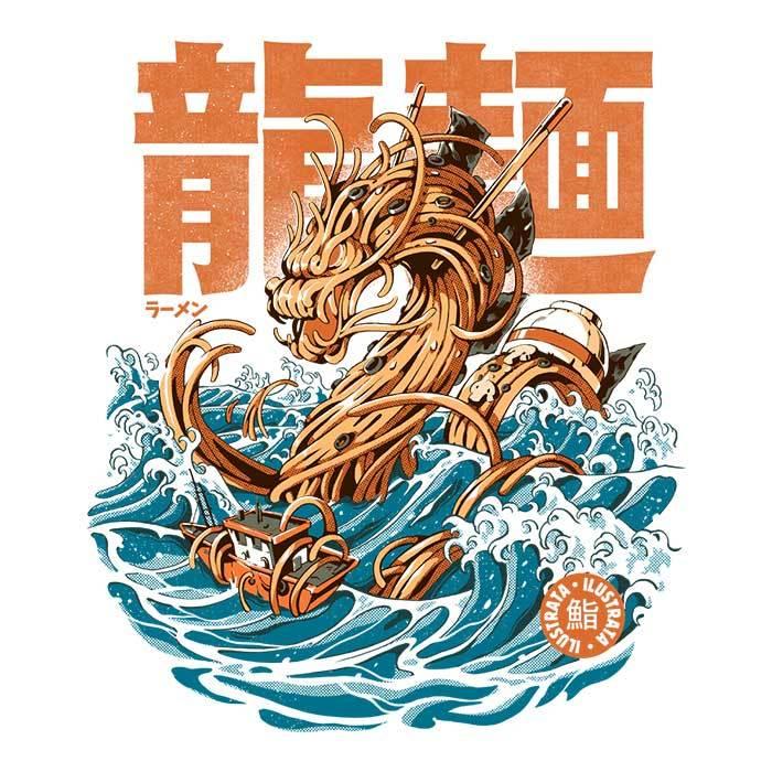 Once Upon a Tee: Great Ramen Dragon Off Kanagawa