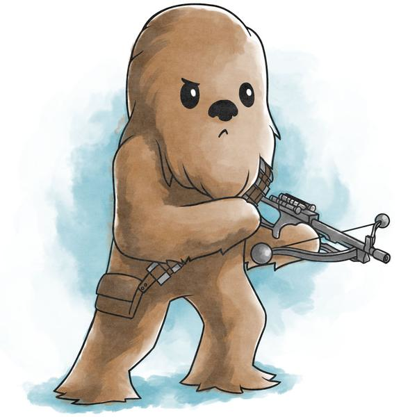 TeeTurtle: Chewbacca (Waterc...