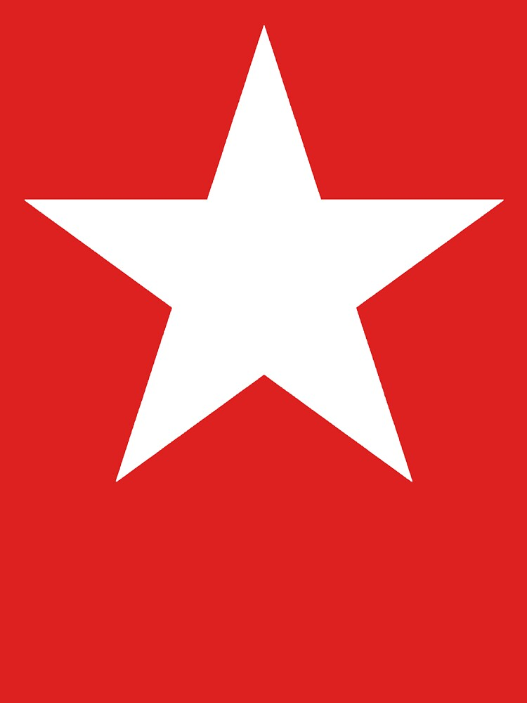 RedBubble: WHITE STAR on RED.