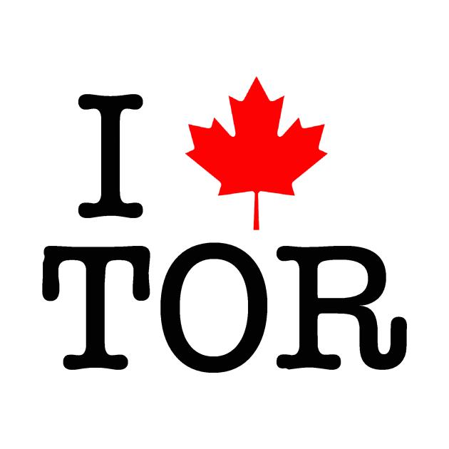 TeePublic: I Maple Leaf Toronto (Black Lettering)