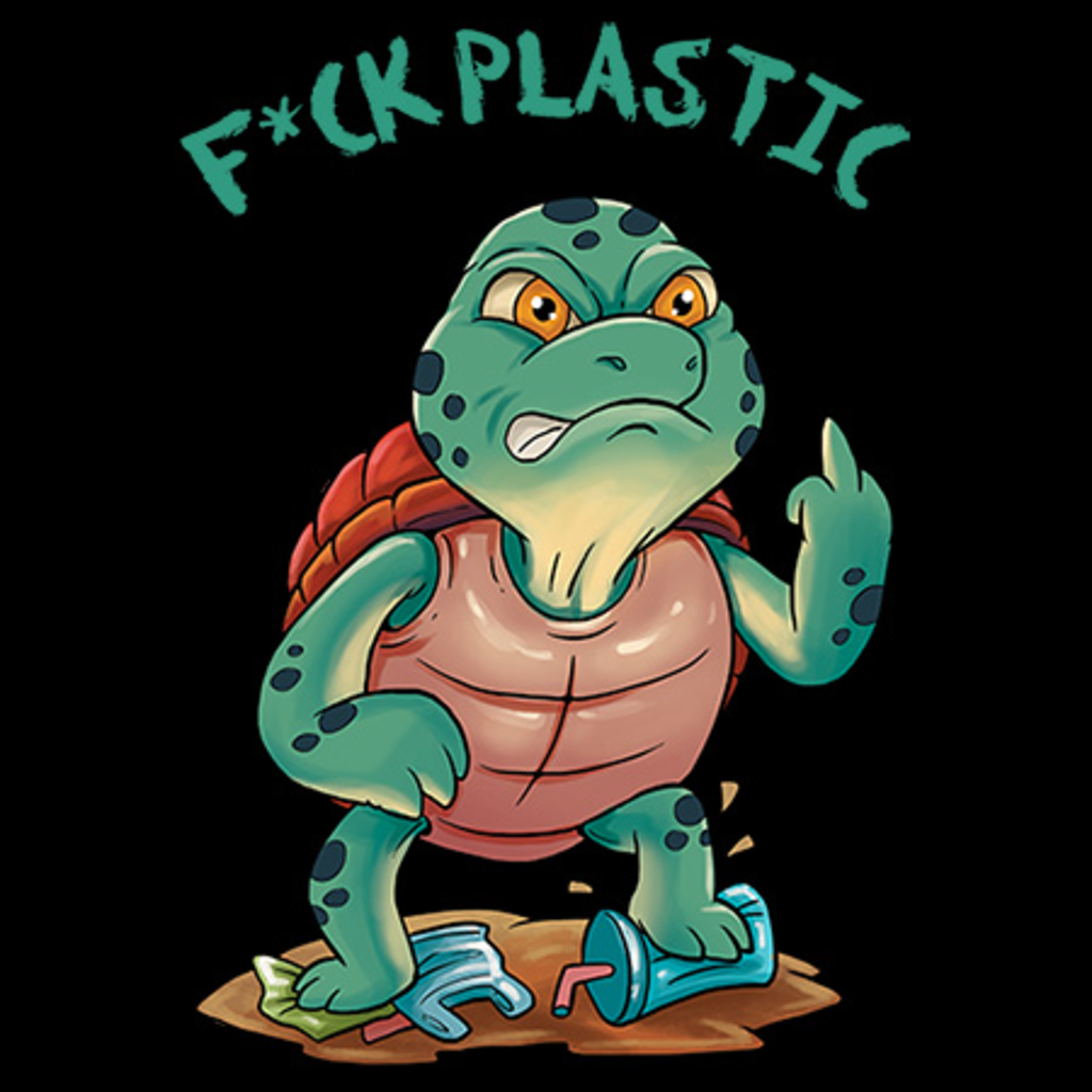 MeWicked: F*ck Plastic - Angry Swearing Sea Turtle - Plastic in the Oceans
