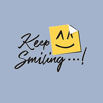 BustedTees: keep smiling